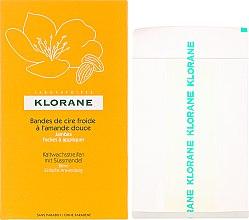 Voňavky, Parfémy, kozmetika voskové pásky s mandľou na nohy - Klorane Cold Wax Strips