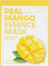 Voňavky, Parfémy, kozmetika Pleťová maska s extraktom z manga - FarmStay Real Mango Essence Mask