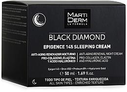 Voňavky, Parfémy, kozmetika Nočný krém na tvár - MartiDerm Black Diamond Epigence 145 Sleeping Cream