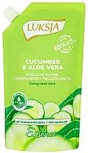 """Voňavky, Parfémy, kozmetika Tekuté krémové mydlo """"Uhorka a aloe"""" - Luksja Cucumber & Aloe Soap (doy pack)"""