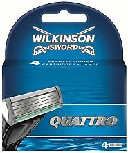 Voňavky, Parfémy, kozmetika Vymeniteľné kazety, 4 ks - Wilkinson Sword Quattro Cartridge Razor Blades