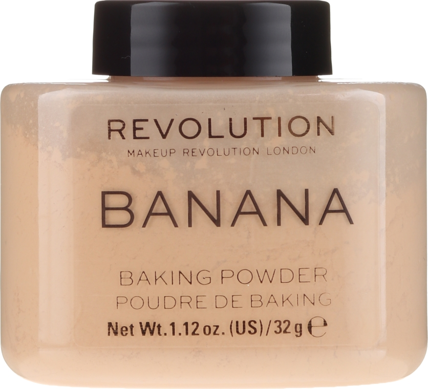 Púder na tvár - Makeup Revolution Banana Baking Powder