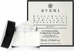Voňavky, Parfémy, kozmetika Krém 3 v 1 na pokožku okolo očí s kyselinou hyalurónovou - Avant Skincare 3-1 Hyaluron-Filler Collagen Eye Formula