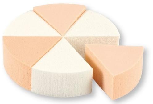 Špongie na líčenie, 35821, biele a béžové, 6 ks - Top Choice Foundation Sponges