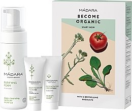 Voňavky, Parfémy, kozmetika Sada - Madara Cosmetics Become Organic Starter Set (foam/150ml + fluid/25ml + cr/25ml)
