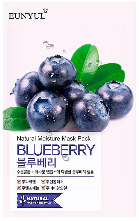 Textilná maska na tvár s čučoriedkovým extraktom - Eunyul Natural Moisture Blueberry Mask