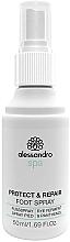 Voňavky, Parfémy, kozmetika Antimikrobiálny sprej na nohy - Alessandro International Spa Protect & Repair Foot Spray