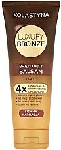 Voňavky, Parfémy, kozmetika Balzamový samoopaľovač na tmavú pokožku - Kolastyna Luxury Bronze Tanning Balm