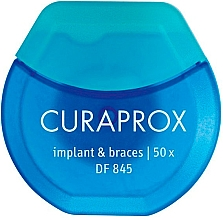 Voňavky, Parfémy, kozmetika Zubná niť na čistenie implantátov a zubných strojčekov - Curaprox DF845 Implant & Braces