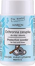 Voňavky, Parfémy, kozmetika Ochranný púder na nohy a obuv s eukalyptovým olejom a mentolom - Marion Dr Koala Protective Powder