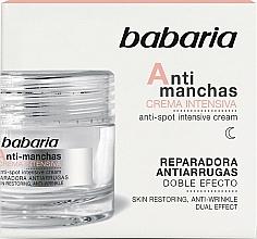 Voňavky, Parfémy, kozmetika Intenzívny krém na tvár proti pigmentovým škvrnám - Babaria Anti-Dark Spot Intensive Cream