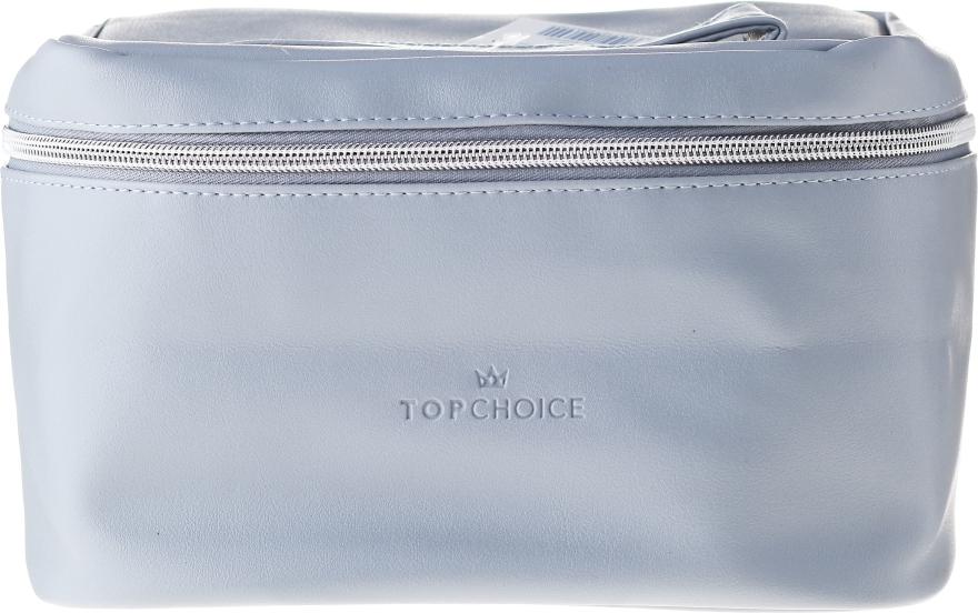 """Kozmetická taška """"Leather"""", 24x14x13,5 cm, 96990, šedá - Top Choice — Obrázky N1"""