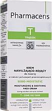Voňavky, Parfémy, kozmetika Hydratačný krém na tvár po liečbe akné terapií - Pharmaceris T Sebo-Moistatic Cream SPF30
