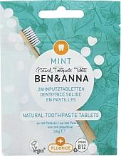 Voňavky, Parfémy, kozmetika Zubná pasta v tabletách s fluoridom Mäta - Ben&Anna Mint Toothpaste Tablets With Fluoride