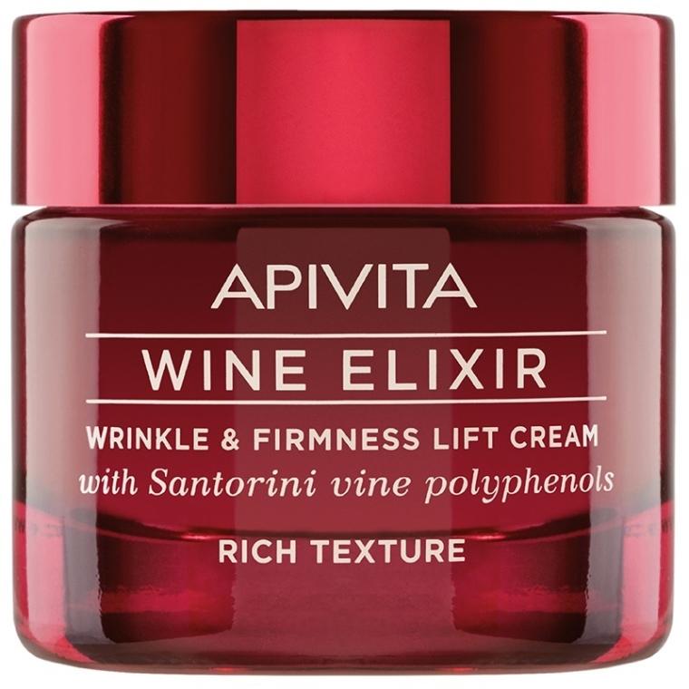Krém-lifting proti vráskam s polyfenolmi Santoriniho vína - Apivita Wine Elixir Wrinkle And Firmness Lift Cream Rich Texture