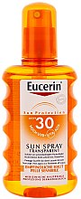 Voňavky, Parfémy, kozmetika Sprej na opaľovanie pre telo SPF 30 - Eucerin Sun Spray Transparent SPF 30