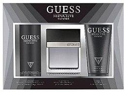 Voňavky, Parfémy, kozmetika Guess Seductive Homme - Sada (edt/100 + deo/spray/226ml + sh/gel/200ml)