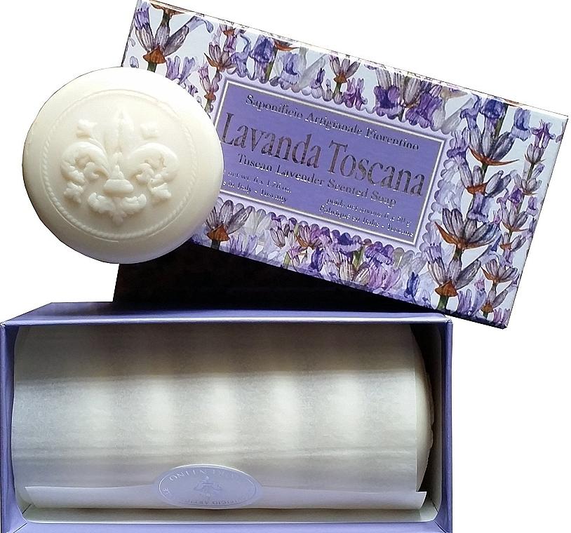 """Sada toaletného mydla """"Toskánska levanduľa"""" - Saponificio Artigianale Fiorentino Lavender Toscana (Soap/6x50g)"""