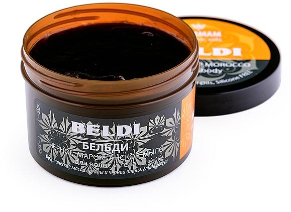 "Čierne marocké mydlo ""Beldi"" na vlasy a telo - Hammam Organic Oils — Obrázky N2"