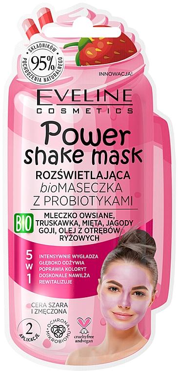 "Bio maska s probiotikami ""Žiarivosť pokožky"" - Eveline Cosmetics Power Shake Mask"
