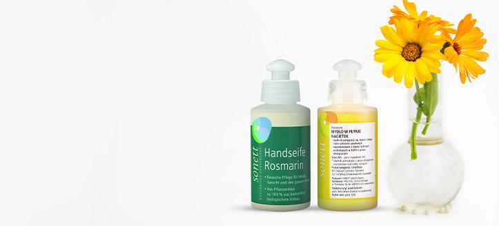 Pri nákupe výrobkov Sonett nad 9 € získaj ako darček tekuté mydlo na výber
