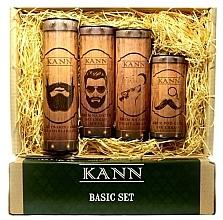 Voňavky, Parfémy, kozmetika Sada - Kann Basic Man (f/d/cr/50ml + f/n/cr/50ml+ f/gel/150ml + eye/cr/15ml)