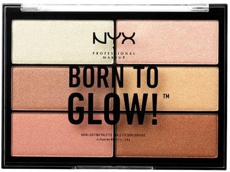 Paleta rozjasňovačov - NYX Professional Makeup Professional Born to Glow Highlighting Palette — Obrázky N1