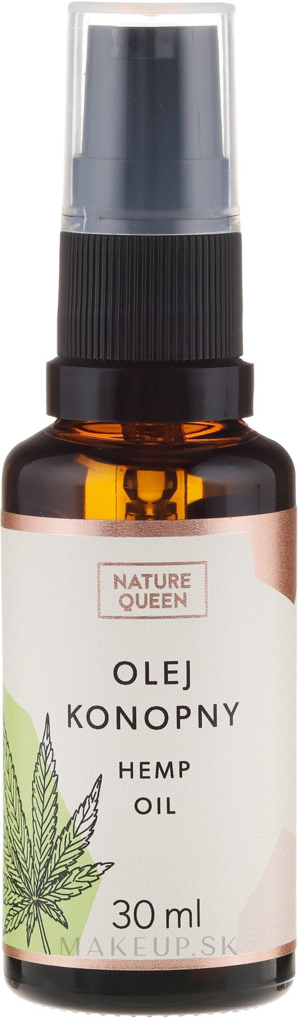 Kozmetický olej konopných semienok - Nature Queen Hemp Oil — Obrázky 30 ml