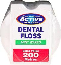 Voňavky, Parfémy, kozmetika Zubná niť s príchuťou mäty - Beauty Formulas Active Oral Care Dental Floss Mint Waxed 200m