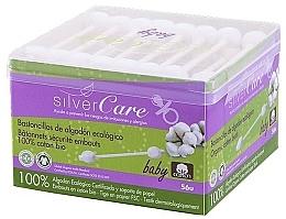 Voňavky, Parfémy, kozmetika Vatové tyčinky pre deti, 56 ks - Silver Care Coton
