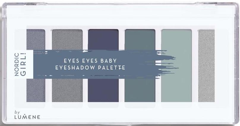 Paleta očných tieňov, 6 farieb - Lumene Nordic Girl! Eyes Eyes Baby Eyeshadow Palette