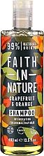 """Voňavky, Parfémy, kozmetika Šampón pre normálne a mastné vlasy """"Grapefruit a pomaranč"""" - Faith In Nature Grapefruit & Orange Shampoo"""
