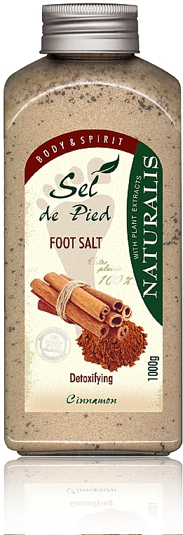 Soľný kúpeľ na nohy - Naturalis Sep de Pied Cinnamon Foot Salt