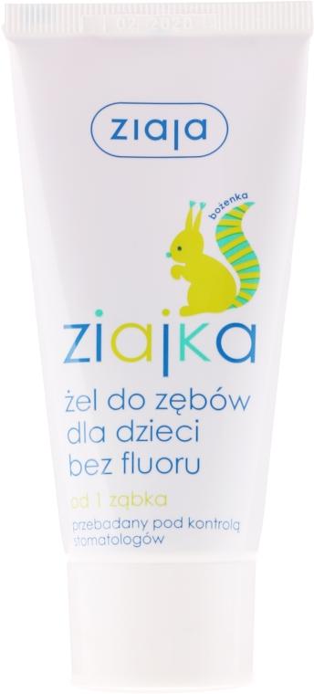 Zubná pasta gél pre deti bez fluoridu - Ziaja Toothpaste Gel For Kids