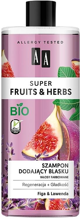 "Šampón na lesk ""Zázvor a levanduľa"" - AA Super Fruits & Herbs Shampoo Fig & Lavender"