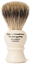 Voňavky, Parfémy, kozmetika Štetka na holenie, P2234, béžová - Taylor of Old Bond Street Shaving Brush Pure Badger size M