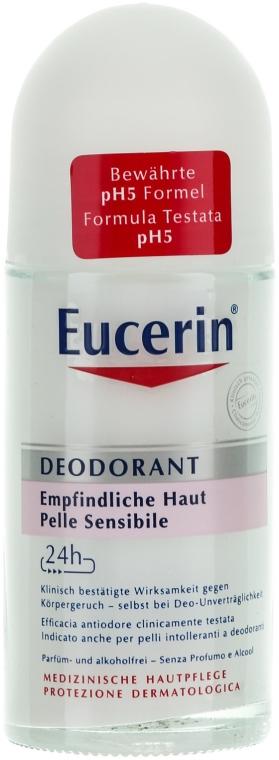 Guľôčkový deodorant - Eucerin Deodorant Empfindliche Haut 24h roll-on
