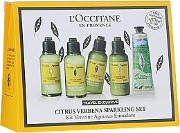 Voňavky, Parfémy, kozmetika Sada  - L'Occitane Citrus Verbena Sparkling Set (show/gel/50ml + shm/50ml + cond/50ml + b/milk/50 ml + h/cr-gel/30 ml)