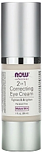 Voňavky, Parfémy, kozmetika Očný krém - Now Foods Solutions 2 in 1 Correcting Eye Cream