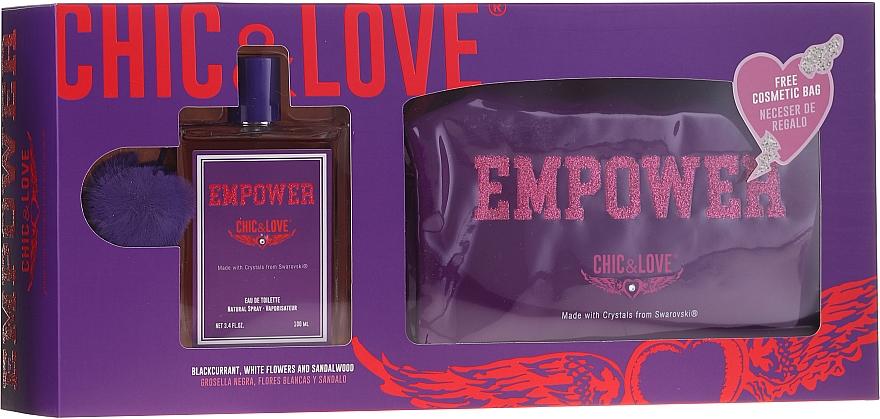 Chic&Love Empower - Sada (edt / 100ml + vrecko)