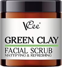 Voňavky, Parfémy, kozmetika Peeling na tvár so zeleným ílom - VCee Green Clay Facial Scrub Mattifying&Refreshing