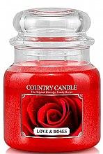 Voňavky, Parfémy, kozmetika Vonná sviečka - Country Candle Love & Roses
