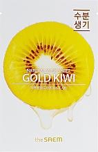 Voňavky, Parfémy, kozmetika Maska na tvár z výťažkom z kivi - The Saem Natural Gold Kiwi Mask Sheet