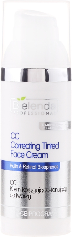 Korekčný tonovací krém na tvár - Bielenda Professional Face Program CC Correcting Tinted Face Cream