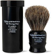 Voňavky, Parfémy, kozmetika Štetka na holenie, 8,25 cm, s cestovným puzdrom, čierna - Taylor of Old Bond Street Shaving Brush Pure Badger