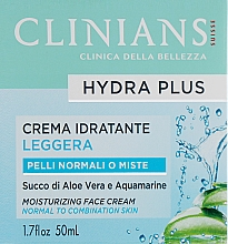 Voňavky, Parfémy, kozmetika Každodenný krém na tvár - Clinians Crema Idratante Giorno Minerali Acqua Vegetale di The Bianco