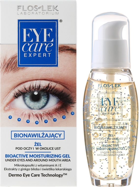 Bioaktívny hydratačný očný gél - Floslek Eye Care Bioactive Moisturizing Gel Under Eyes And Around Mouth Area
