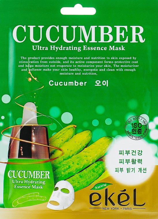 Textilná maska s uhorkovým extraktom - Ekel Cucumber Ultra Hydrating Essence Mask