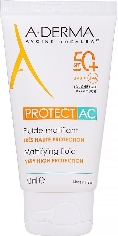 Matujúci fluid na tvár - A-Derma Protect AC Mattifying Fluid SPF 50