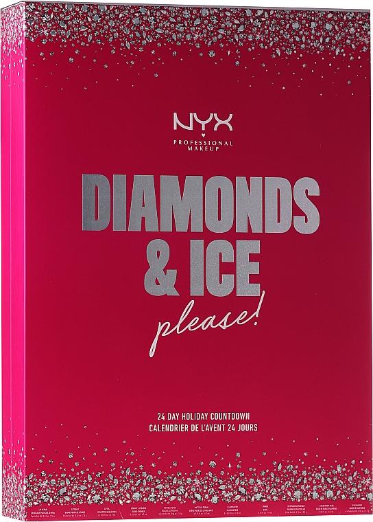 "Sada ""Adventný kalendár"" - NYX Professional Makeup Diamond & Ice Advent Calendar Makeup Set"